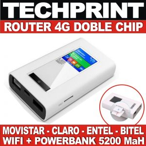 Router Wifi 4g Lte 150 Mb Doble Chip + Power Bank 5200 Mah