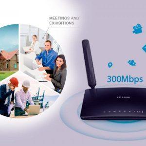 Router Wifi 4G Sim Card 300 Mb Ancho De Banda Compatible Con Cualquier Operador